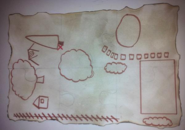 Une carte 6 pièces de puzzles 6 activités pour la carte j ai d abord